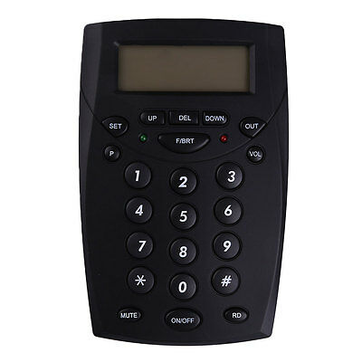 Office Business Call Center LCD Telephone With Corded Headset HandsFree Dial Pad