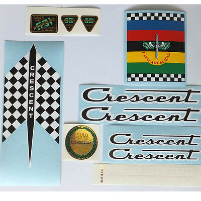Crescent 1970s decal set Swedish