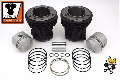 Vtwin 80'' Cylinder & Piston Kit 8:1 For Harley 1979-84 Shovelhead 11-2612