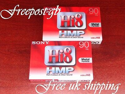 2 x SUPER SONY P5-90HMP Hi8/ DIGITAL 8 CAMCORDER TAPES/ CASSETTES - TOP QUALITY