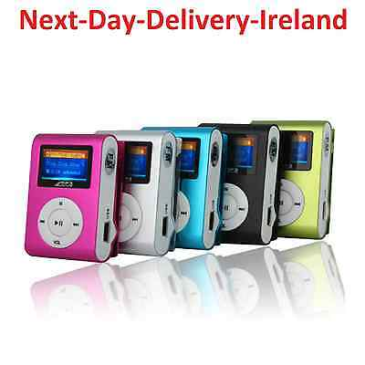 Mini Clip Sport MP3 Player LCD Screen Ideal for Gym Running 1GB 2GB 4GB 8GB 16GB