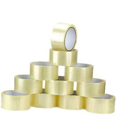 288 BIG CLEAR TAPE STRONG ROLLS Parcel Packing Sellotape 48mm x 66m PACKAGING