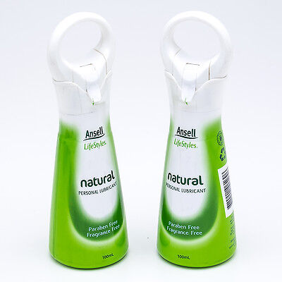 Ansell LifeStyles Natural Personal Lubricant 100ml (2-Pack)