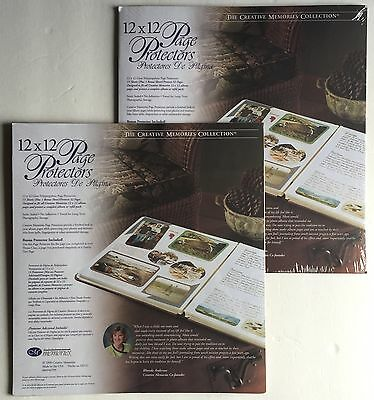 Lot of 2 Creative Memories 12X12 Scrapbook Page Protectors 1999 Old Style