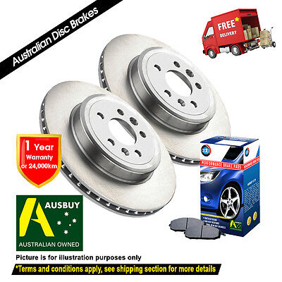MITSUBISHI Magna ES, VR TL 294mm AWD 06/03-10/04 FRONT Disc Rotors & Brake Pads