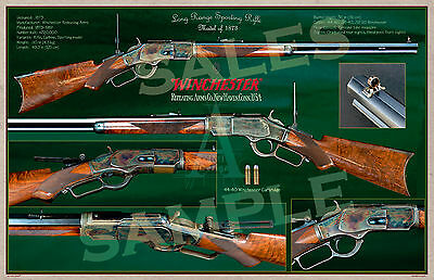 Winchester Long Range Sporting Rifle Model of 1873 Poster 11 x 17