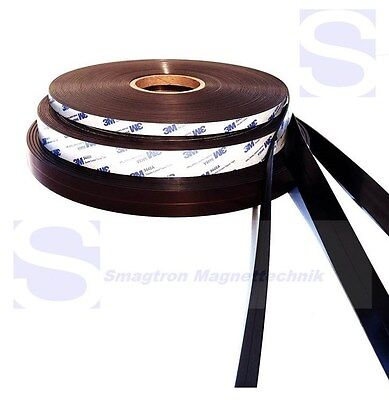 Magnet band with 3M Adhesive self-adhesive Type A + B - 1,5mm x 12,7mm 3 Mete