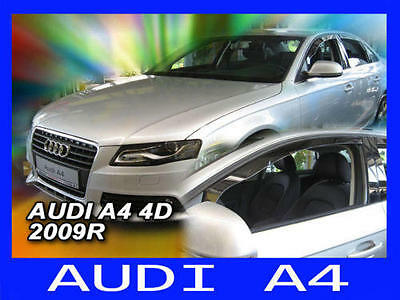 Audi A4 B8 Yrs 08 - on 4 Piece Tinted Wind Deflectors Front & Rear Doors Visors
