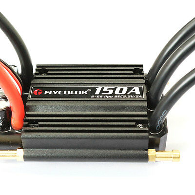 150A Electronic Speed Controller BEC ESC Cooling Brushless Ship Model RC
