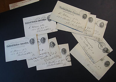 LOT of 10 Old Advertising Postcards - 1893-1897 - Frysinger Cigars - Hanover PA