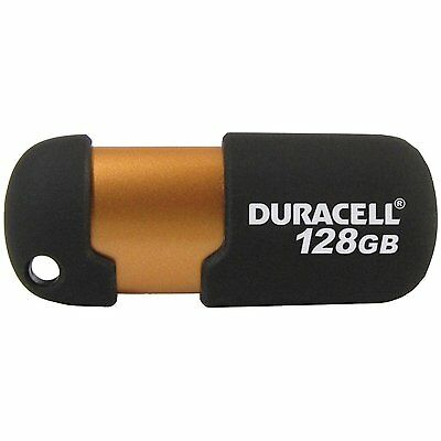 Duracell USB Flash Drive 128GB memory NEW - Copper and Black Capless