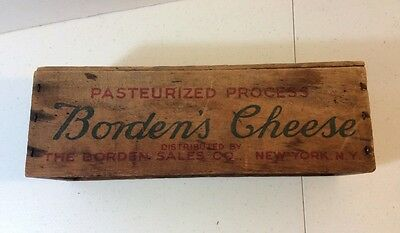 Old Vintage Borden's Cheese Wooden Box