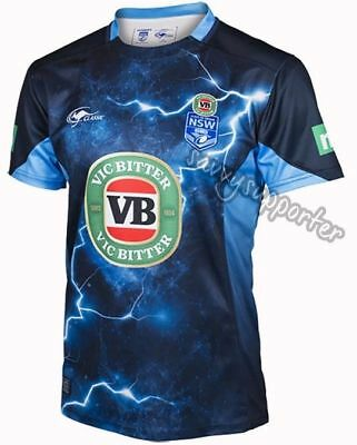 NSW Blues State of Origin 2017 Training Jersey Sizes S-5XL NRL