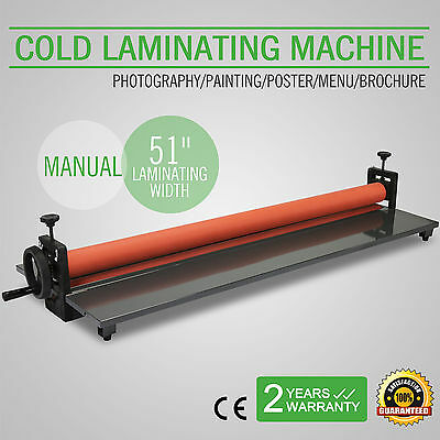 "51"" 1300Mm Cold Laminator Laminating Machine Wide Format Manual Adjustable"