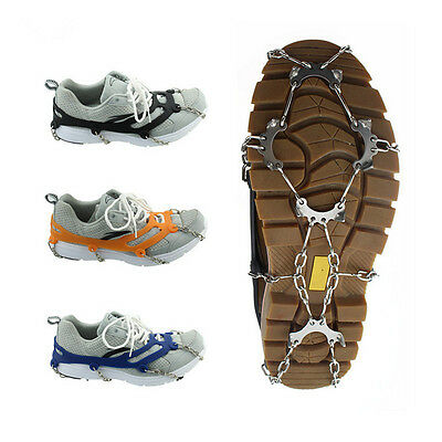 Mountaineering Hiking Crampons 10 Teeth Outdoor Antislip Ice Snow Shoe Spikes