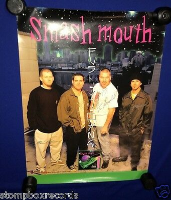 SIGNED vintage 1997 Smash Mouth ST PROMO POSTER 18x24in AUTOGRAPH ENTIRE BAND