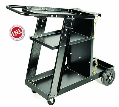 Welding Cutter Cart - All Steel Construction, Fits Most MIG & Plasma Machines
