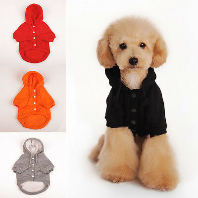 Fashion Warm Winter Hoodie Jumpsuit Coat Clothes Costume For Pet Dog Puppy FN
