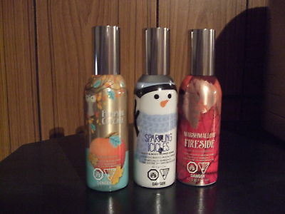 Bath & Body Works3 Room Sprays Marshmallow Fireside,sparkling Icicles,pumkin Cup