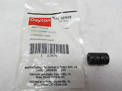 "Dayton Rigid Shaft Coupling Model # 3ZN29 1/4"" Bore"