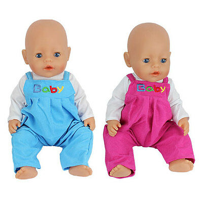 2color jumpsuit clothes Wearfor 43cm Baby Born zapf (only sell clothes )