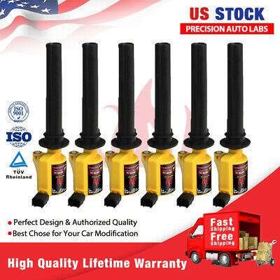 High Performance 6 Pack Ignition Coil Fit Ford Escape Mercury Mazda V6 3.0L Red