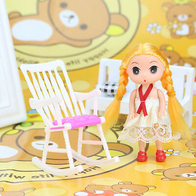 Doll house Toy Accessories New Furniture Rocking Chair Living Room for Barbie