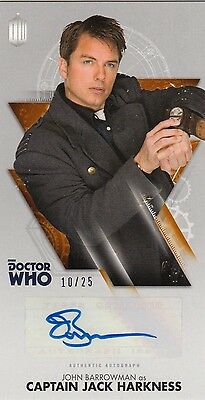 Doctor Who: The Tenth Doctor Adventures - John Barrowman Autograph Bronze 10/25