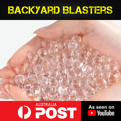 8mm High Impact Gell Balls - Clear Water Orbeez Bullets For Toy Guns X10,000
