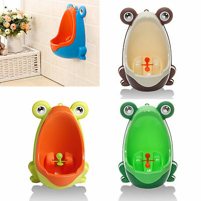 Children Potty Toilet Training Kids Frog Urinal for Boys Pee Trainer Bathroom