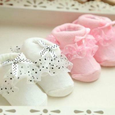 Infant Girls Socks 0-6M Toddler Baby Soft Cotton Ankle Socks Kid Breathable Lace