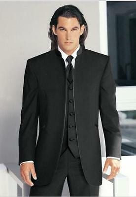 Black Men Suits Groom Tuxedos Mens Wedding Suits Formal Occasion Best Man Suits