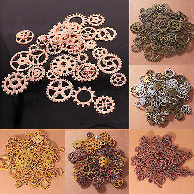 Antiqued Bronze Alloy Mixed Gear Wheel Steampunk Gear Pendant for Jewelry