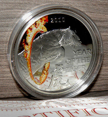 2010 Malawi Year of the TIGER 28,28 g Silver Proof Coin