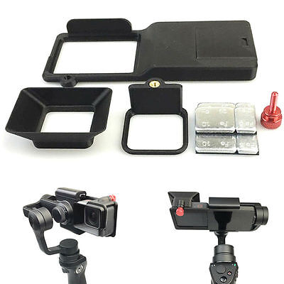GoPro Hero 5 Adapter Switch Mount Plate Camera Sun Shade Set For DJI Osmo Mobile