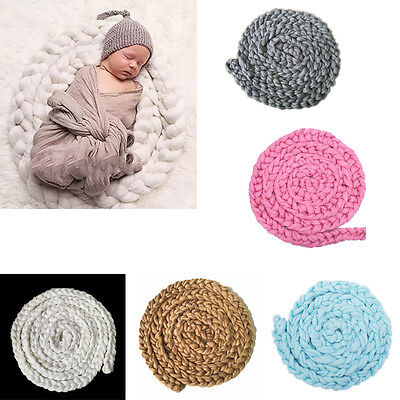 Newborn Baby Soft Photography Photo Prop Infant Backdrop Braided Blanket Rug