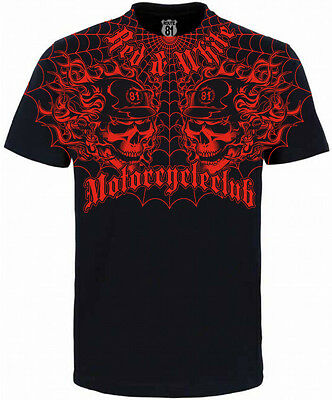 Hells Angels Support 81  Big Red Machine World T-Shirt MOTORCYCLECLUB Allover