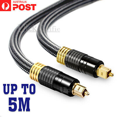 Premium Toslink Optical Fibre Cable S/PDIF 5.1 7.1 7.2 Digital Audio 1.8M 3M
