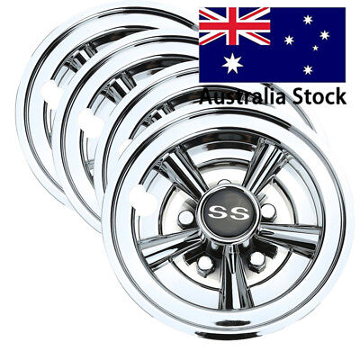 "4X 10L0L Professional Golf Cart 8"" SS Wheel Covers Hub Caps YAMAHA CLUB CAR EZGO"