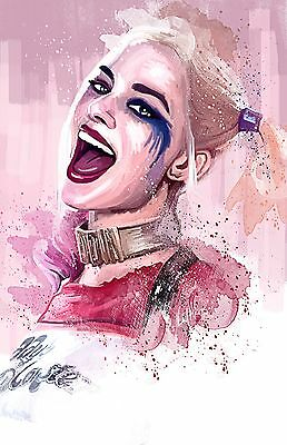 HARLEY QUINN SUICIDE SQUAD IMAGE  A4 Poster Gloss Print Laminated