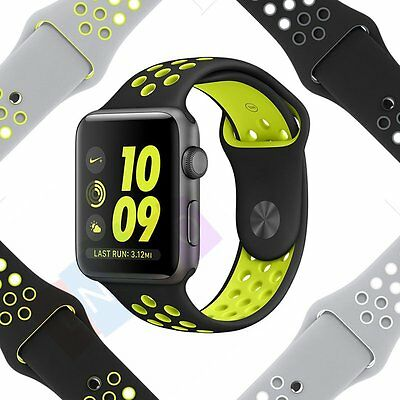 Replacement Silicone Sports Bracelet Strap For Apple Watch Band Series 2/1 38/42