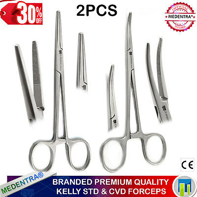 Classic Surgical Kelly Locking Clamps Haemostatic Forceps 16cm Tissue Surgery SS