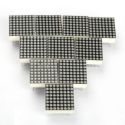 10PCS LED Dot Matrix Display Module Red 16Pin 8x8 Common Anode TOP