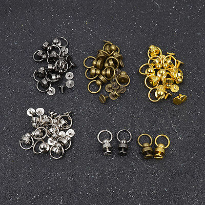 10pcs Copper Rivet O Ring Nail Spiles Round Head Wallet Leather Craft DIY