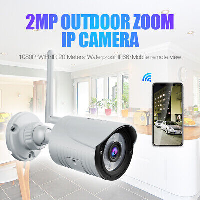 Bullet Outdoor HD Security IP 720P Wireless Wifi IR Night Vision Network Camera