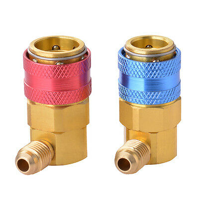 AC R134A Quick Connector Adapter Coupler Auto A/C Manifold Gauge Low/High BI476