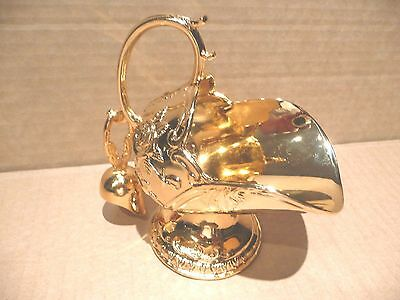 Lovely Gold Gilt Plated Sugar Scuttle