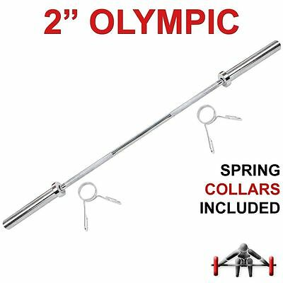 "PowerGym Fitness Olympic Barbell Bar 4ft 2"" 5cm Weight Plates Gym Training 48"""