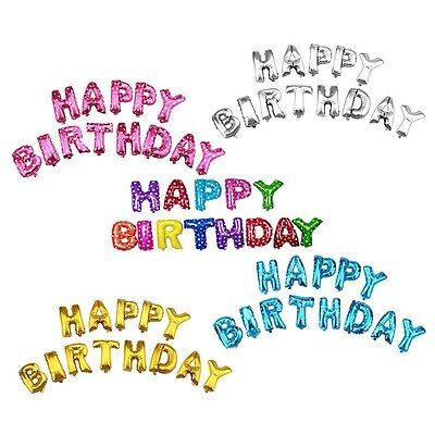 """13 Pcs """"HAPPY BIRTHDAY"""" Letters Foil Balloons For Birthday Party Decoration Gift"""
