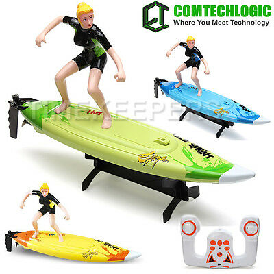 """2.4Ghz 16"""" RC Radio Remote Control 2 Speed Surfboard Boat EP RTR"""